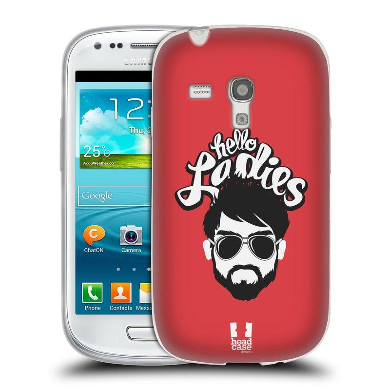 Silikonové pouzdro na mobil Samsung Galaxy S III Mini HEAD CASE KNÍRAČ HELLO LADIES (Silikonový kryt či obal na mobilní telefon Samsung Galaxy S III Mini GT-i8190)
