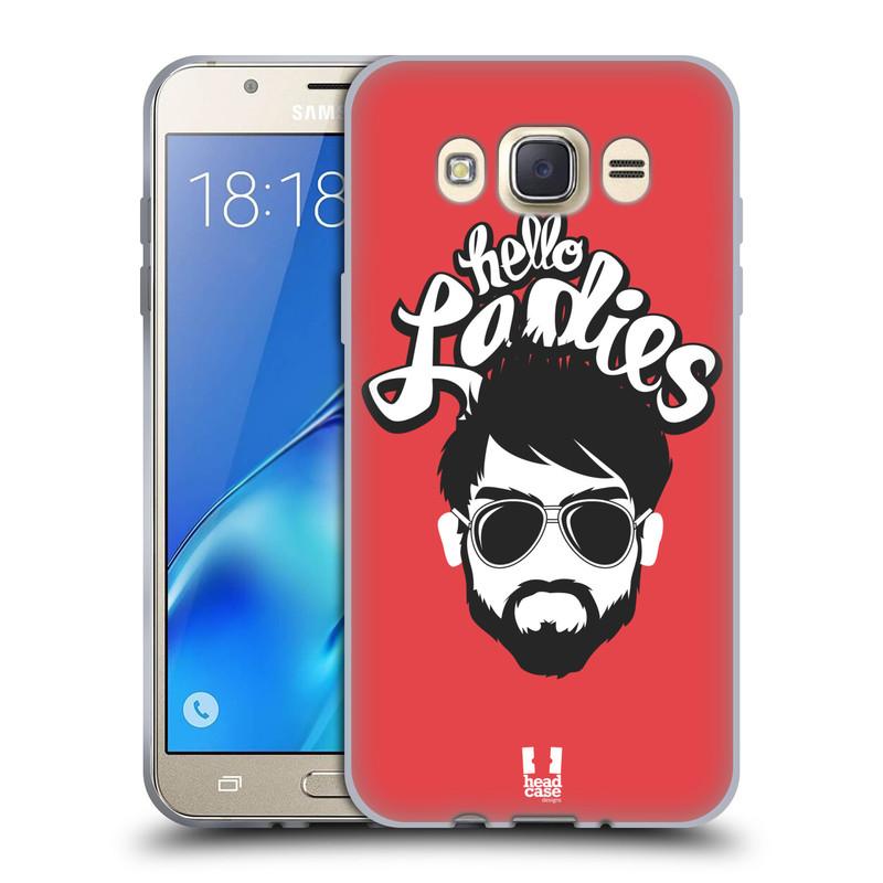 Silikonové pouzdro na mobil Samsung Galaxy J7 (2016) HEAD CASE KNÍRAČ HELLO LADIES (Silikonový kryt či obal na mobilní telefon Samsung Galaxy J7 (2016) SM-J710)