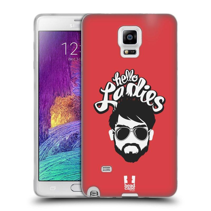 Silikonové pouzdro na mobil Samsung Galaxy Note 4 HEAD CASE KNÍRAČ HELLO LADIES (Silikonový kryt či obal na mobilní telefon Samsung Galaxy Note 4 SM-N910F)