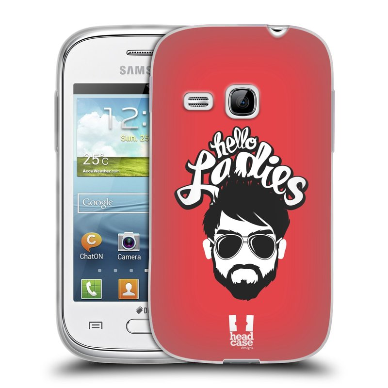 Silikonové pouzdro na mobil Samsung Galaxy Young HEAD CASE KNÍRAČ HELLO LADIES (Silikonový kryt či obal na mobilní telefon Samsung Galaxy Young GT-S6310)