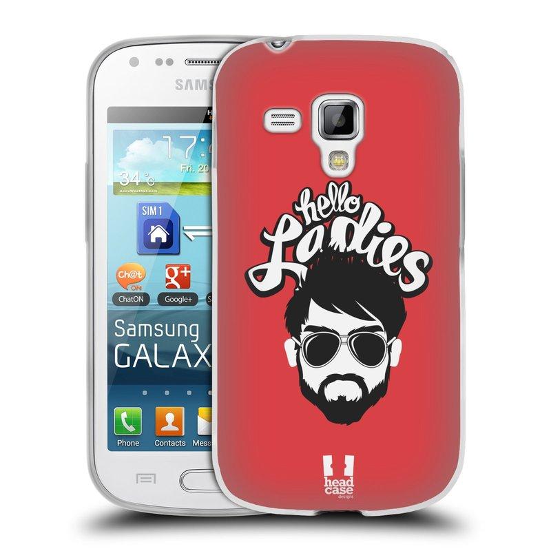 Silikonové pouzdro na mobil Samsung Galaxy Trend HEAD CASE KNÍRAČ HELLO LADIES (Silikonový kryt či obal na mobilní telefon Samsung Galaxy Trend GT-S7560)