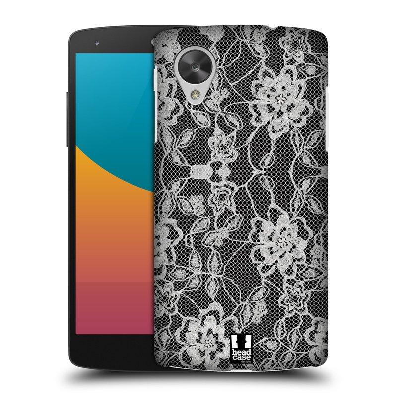 Plastové pouzdro na mobil LG Nexus 5 HEAD CASE FLOWERY KRAJKA (Kryt či obal na mobilní telefon LG Google Nexus 5 D821)