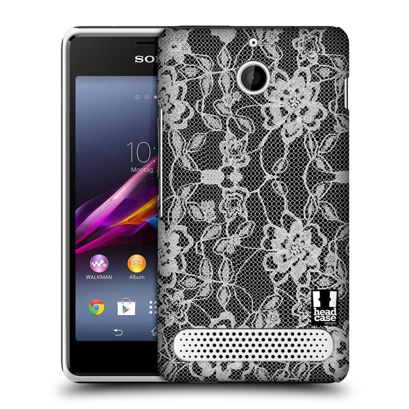 Plastové pouzdro na mobil Sony Xperia E1 D2005 HEAD CASE FLOWERY KRAJKA (Kryt či obal na mobilní telefon Sony Xperia E1 a E1 Dual)