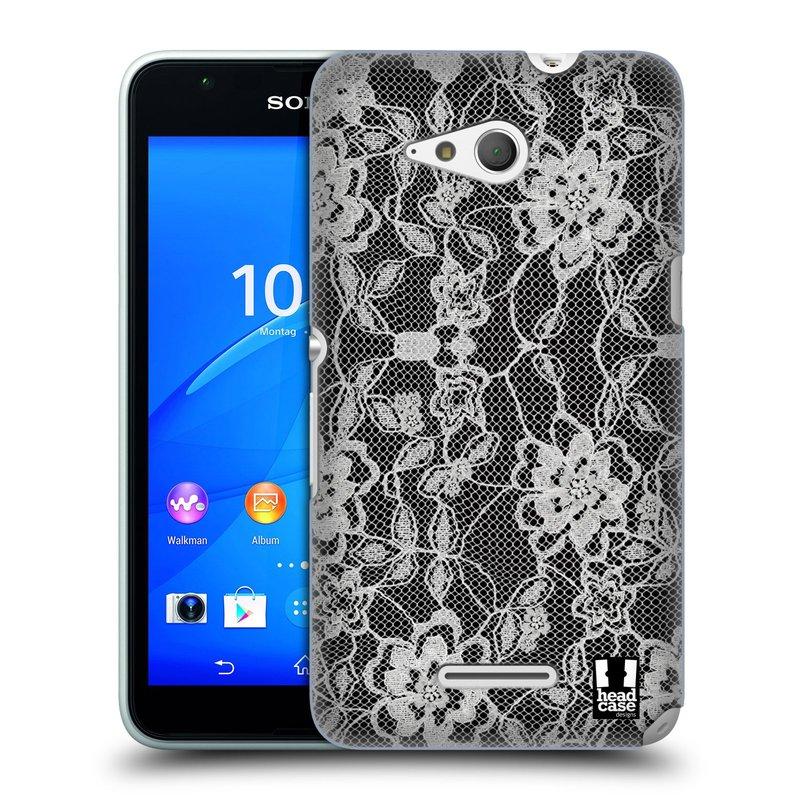 Plastové pouzdro na mobil Sony Xperia E4g E2003 HEAD CASE FLOWERY KRAJKA (Kryt či obal na mobilní telefon Sony Xperia E4g a E4g Dual SIM)