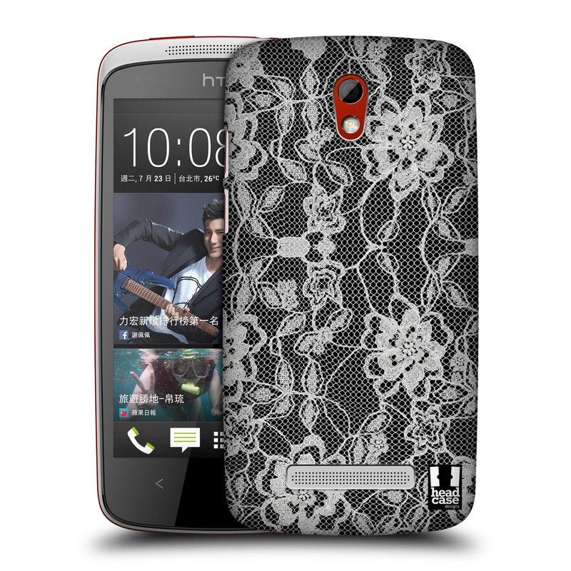 Plastové pouzdro na mobil HTC Desire 500 HEAD CASE FLOWERY KRAJKA (Kryt či obal na mobilní telefon HTC Desire 500)