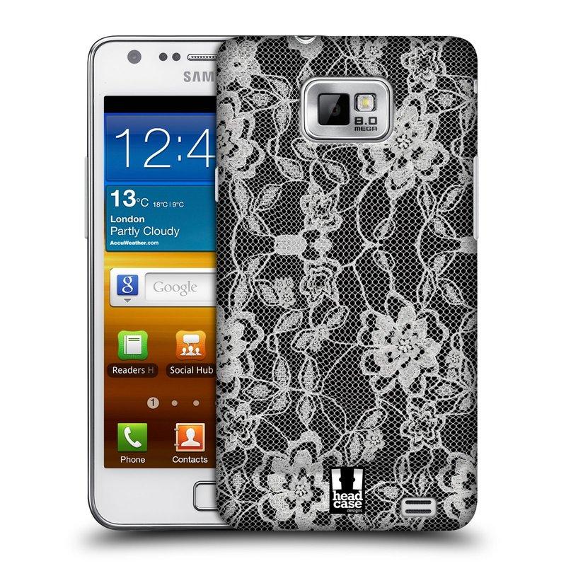 Plastové pouzdro na mobil Samsung Galaxy S II HEAD CASE FLOWERY KRAJKA (Kryt či obal na mobilní telefon Samsung Galaxy S II GT-i9100)