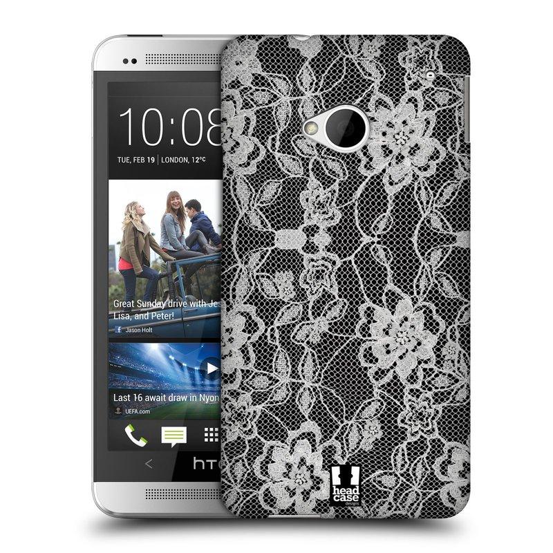 Plastové pouzdro na mobil HTC ONE M7 HEAD CASE FLOWERY KRAJKA (Kryt či obal na mobilní telefon HTC ONE M7)