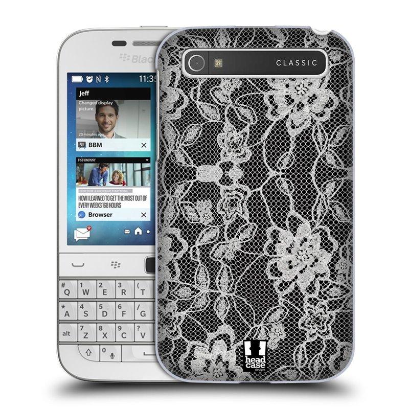 Plastové pouzdro na mobil Blackberry Classic HEAD CASE FLOWERY KRAJKA (Kryt či obal na mobilní telefon Blackberry Classic)
