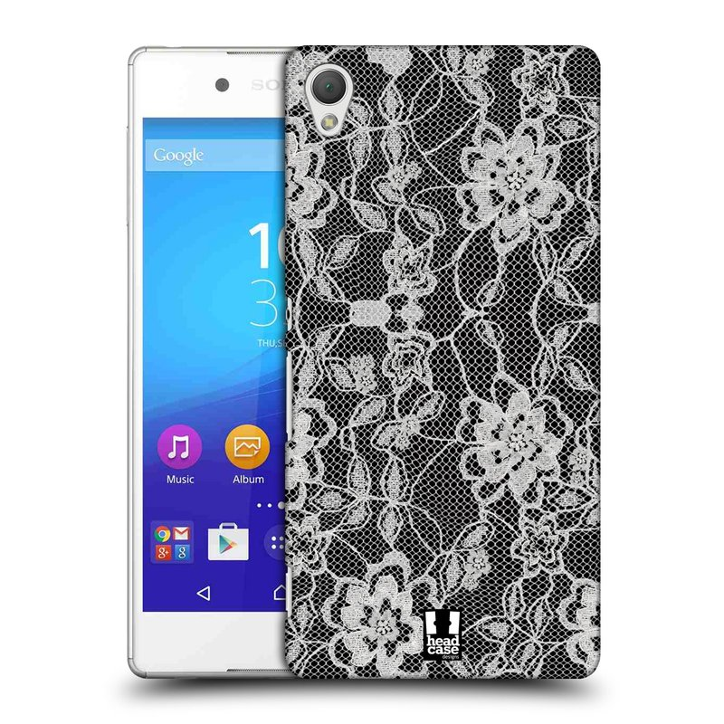 Plastové pouzdro na mobil Sony Xperia Z3+ (Plus) HEAD CASE FLOWERY KRAJKA (Kryt či obal na mobilní telefon Sony Xperia Z3+ a Sony Xperia Z4 )