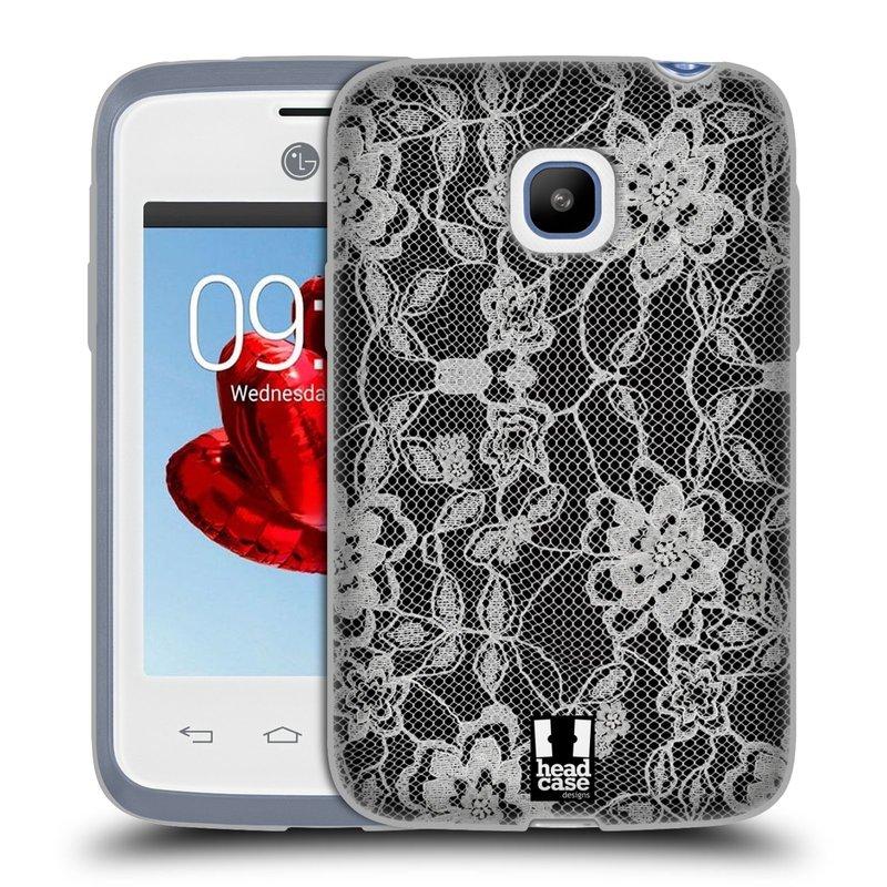 Silikonové pouzdro na mobil LG L20 HEAD CASE FLOWERY KRAJKA (Silikonový kryt či obal na mobilní telefon LG L20 D107)