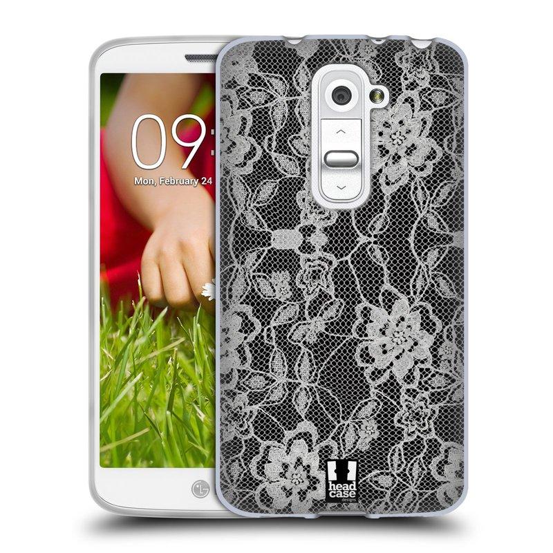 Silikonové pouzdro na mobil LG G2 Mini HEAD CASE FLOWERY KRAJKA (Silikonový kryt či obal na mobilní telefon LG G2 Mini D620)