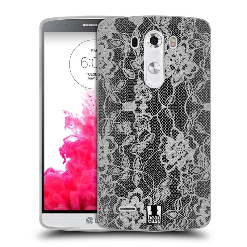 Silikonové pouzdro na mobil LG G3 HEAD CASE FLOWERY KRAJKA (Silikonový kryt či obal na mobilní telefon LG G3)