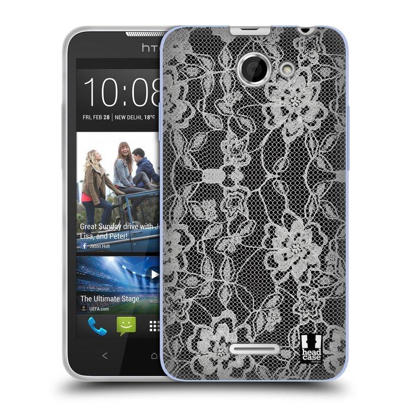 Silikonové pouzdro na mobil HTC Desire 516 HEAD CASE FLOWERY KRAJKA (Silikonový kryt či obal na mobilní telefon HTC Desire 516 Dual SIM)