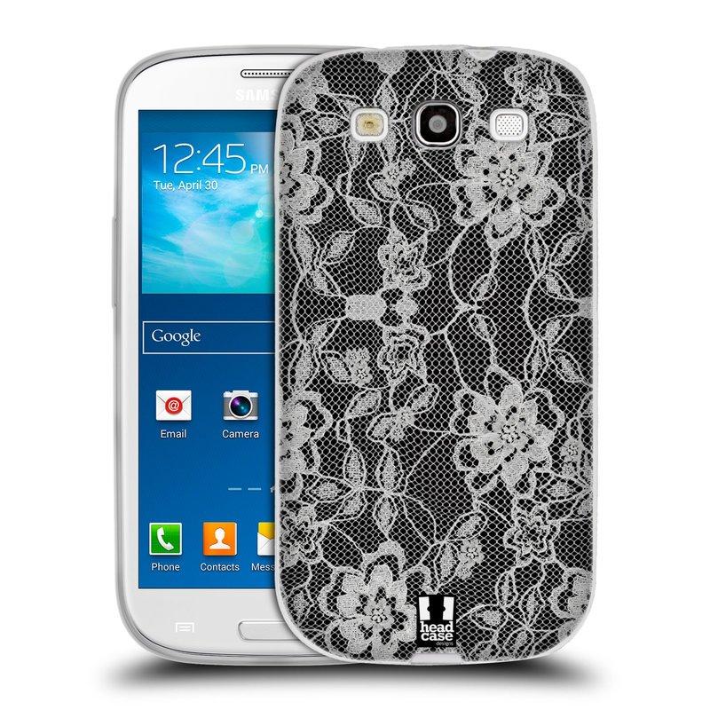 Silikonové pouzdro na mobil Samsung Galaxy S III HEAD CASE FLOWERY KRAJKA (Silikonový kryt či obal na mobilní telefon Samsung Galaxy S III GT-i9300)