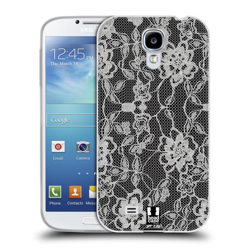 Silikonové pouzdro na mobil Samsung Galaxy S4 HEAD CASE FLOWERY KRAJKA (Silikonový kryt či obal na mobilní telefon Samsung Galaxy S4 GT-i9505 / i9500)