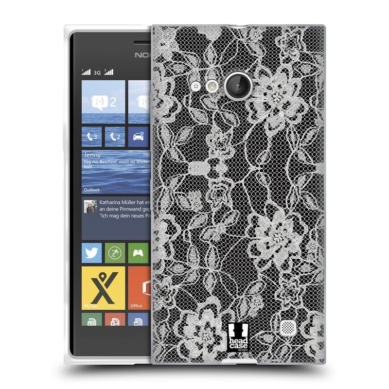Silikonové pouzdro na mobil Nokia Lumia 730 Dual SIM HEAD CASE FLOWERY KRAJKA (Silikonový kryt či obal na mobilní telefon Nokia Lumia 730 Dual SIM)