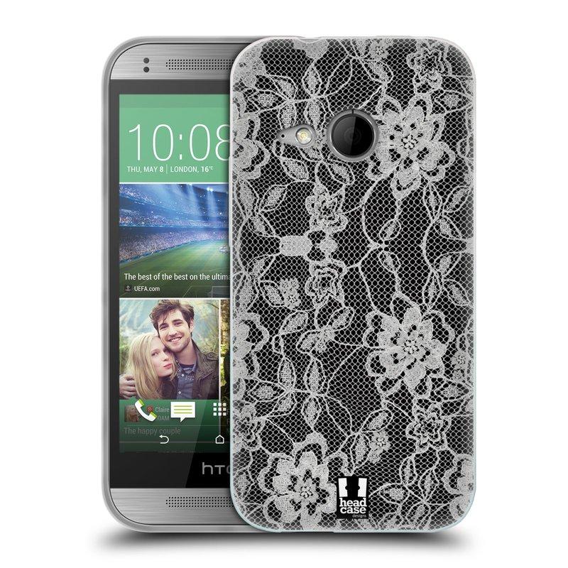 Silikonové pouzdro na mobil HTC ONE Mini 2 HEAD CASE FLOWERY KRAJKA (Silikonový kryt či obal na mobilní telefon HTC ONE Mini 2)