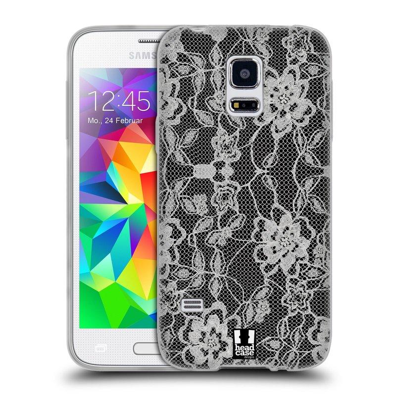 Silikonové pouzdro na mobil Samsung Galaxy S5 Mini HEAD CASE FLOWERY KRAJKA (Silikonový kryt či obal na mobilní telefon Samsung Galaxy S5 Mini SM-G800F)