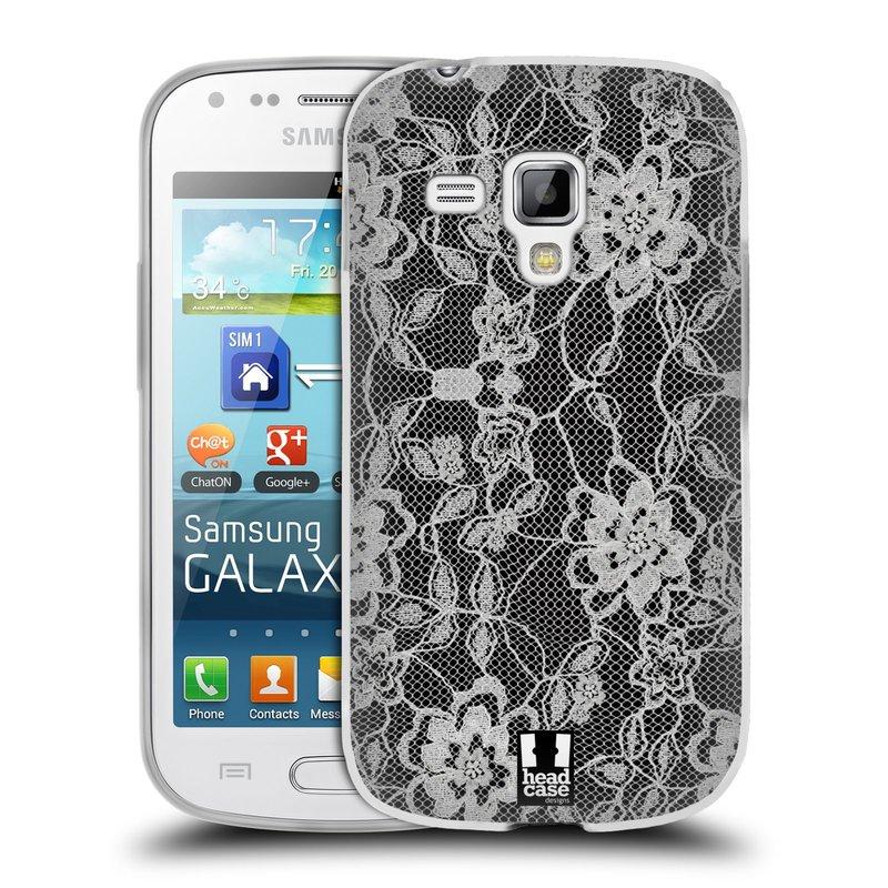Silikonové pouzdro na mobil Samsung Galaxy S Duos HEAD CASE FLOWERY KRAJKA (Silikonový kryt či obal na mobilní telefon Samsung Galaxy S Duos GT-S7562)
