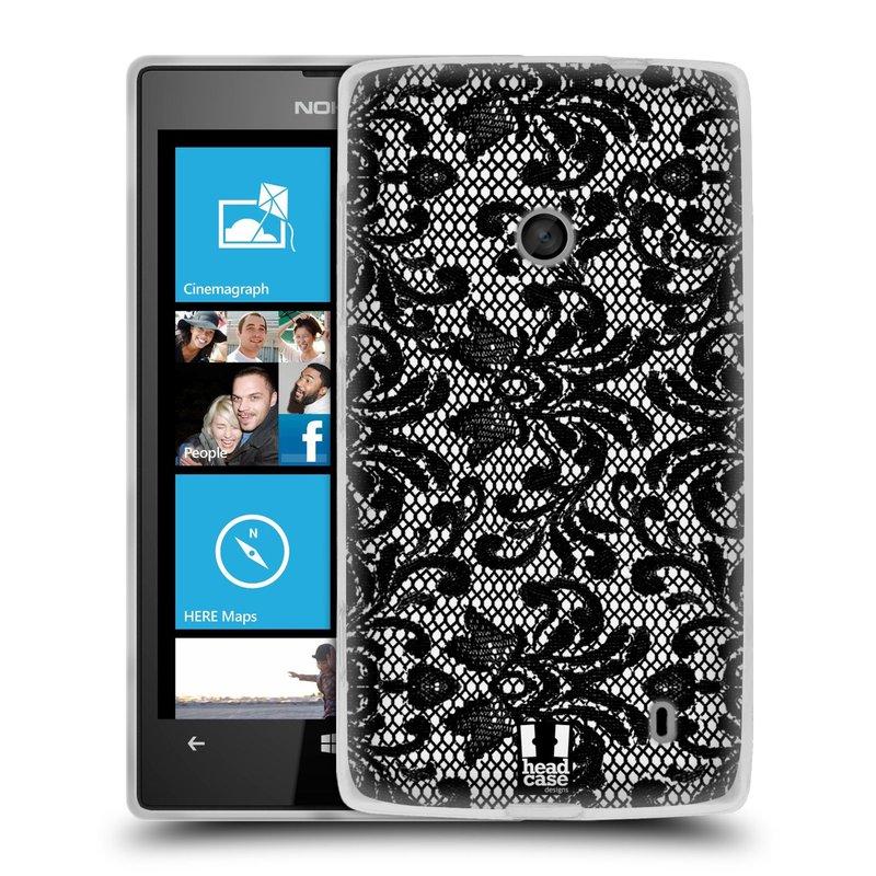 Silikonové pouzdro na mobil Nokia Lumia 520 HEAD CASE KRAJKA (Silikonový Kryt či obal na mobilní telefon Nokia Lumia 520)