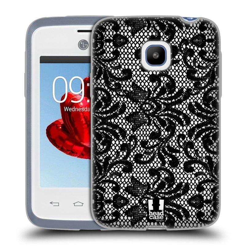 Silikonové pouzdro na mobil LG L20 HEAD CASE KRAJKA (Silikonový kryt či obal na mobilní telefon LG L20 D107)