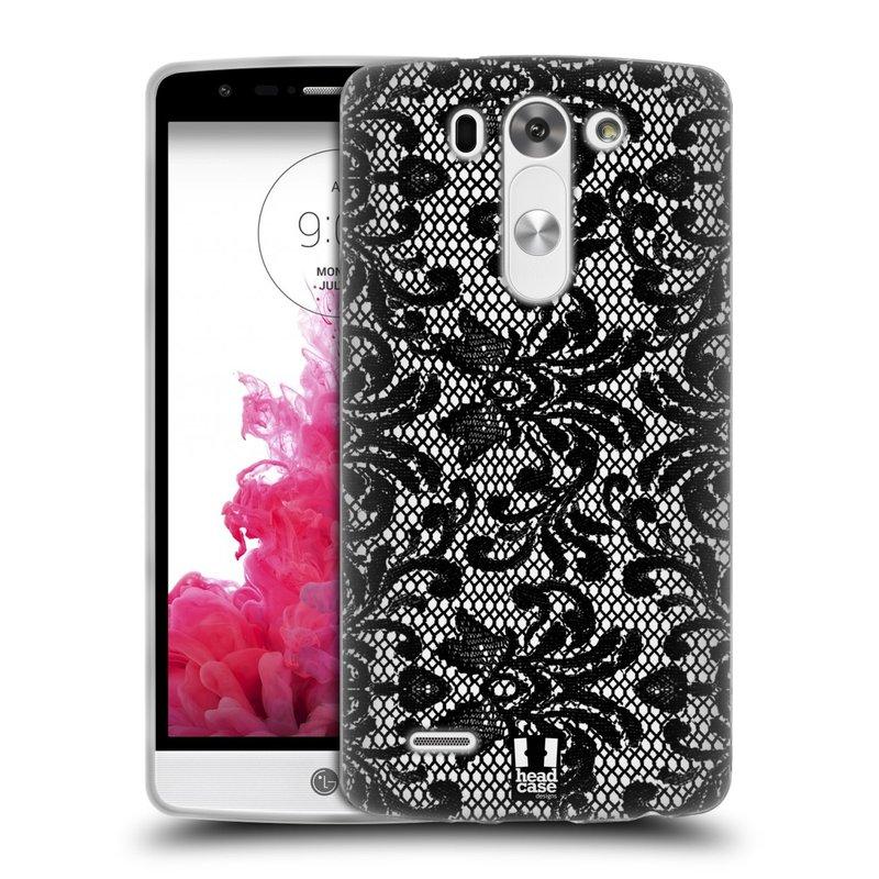 Silikonové pouzdro na mobil LG G3s HEAD CASE KRAJKA (Silikonový kryt či obal na mobilní telefon LG G3s D722)