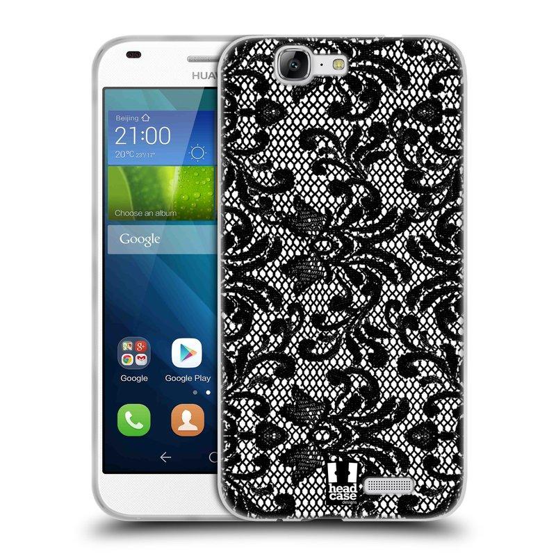 Silikonové pouzdro na mobil Huawei Ascend G7 HEAD CASE KRAJKA (Silikonový kryt či obal na mobilní telefon Huawei Ascend G7)