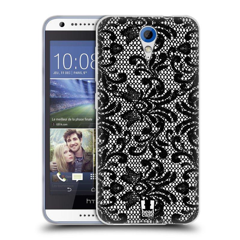 Silikonové pouzdro na mobil HTC Desire 620 HEAD CASE KRAJKA (Silikonový kryt či obal na mobilní telefon HTC Desire 620)