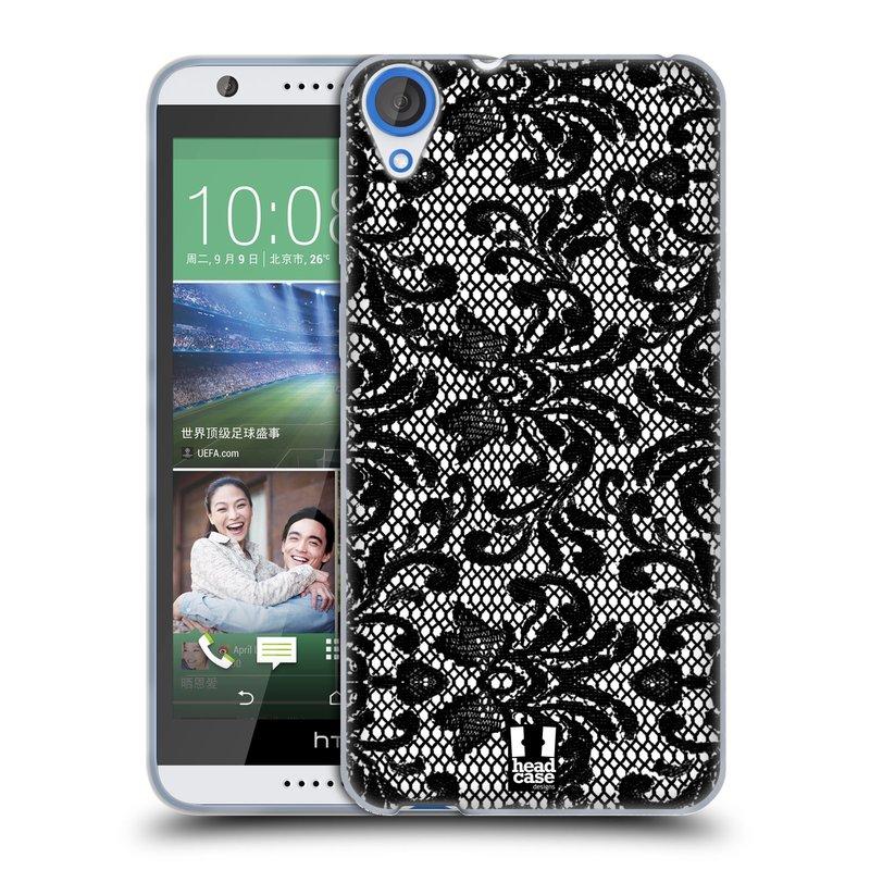 Silikonové pouzdro na mobil HTC Desire 820 HEAD CASE KRAJKA (Silikonový kryt či obal na mobilní telefon HTC Desire 820)