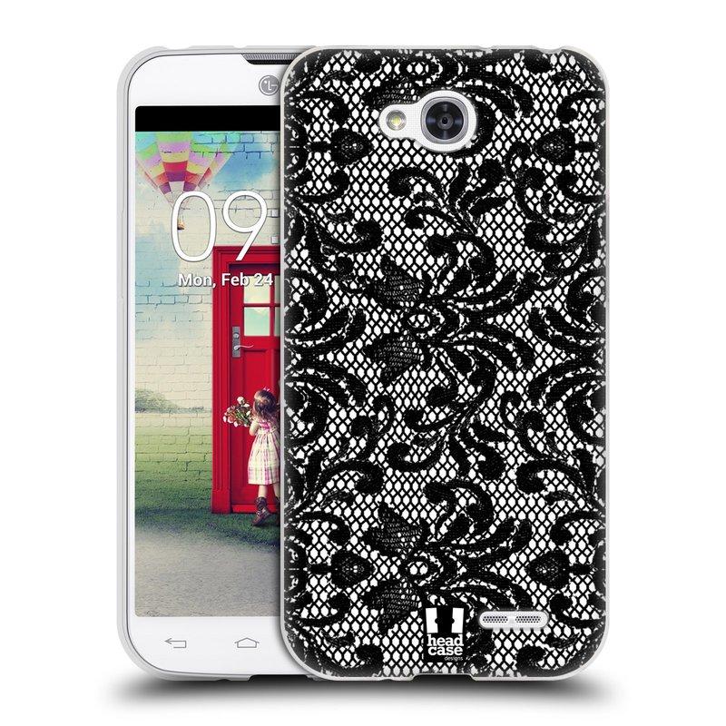 Silikonové pouzdro na mobil LG L90 HEAD CASE KRAJKA (Silikonový kryt či obal na mobilní telefon LG L90 D405n)