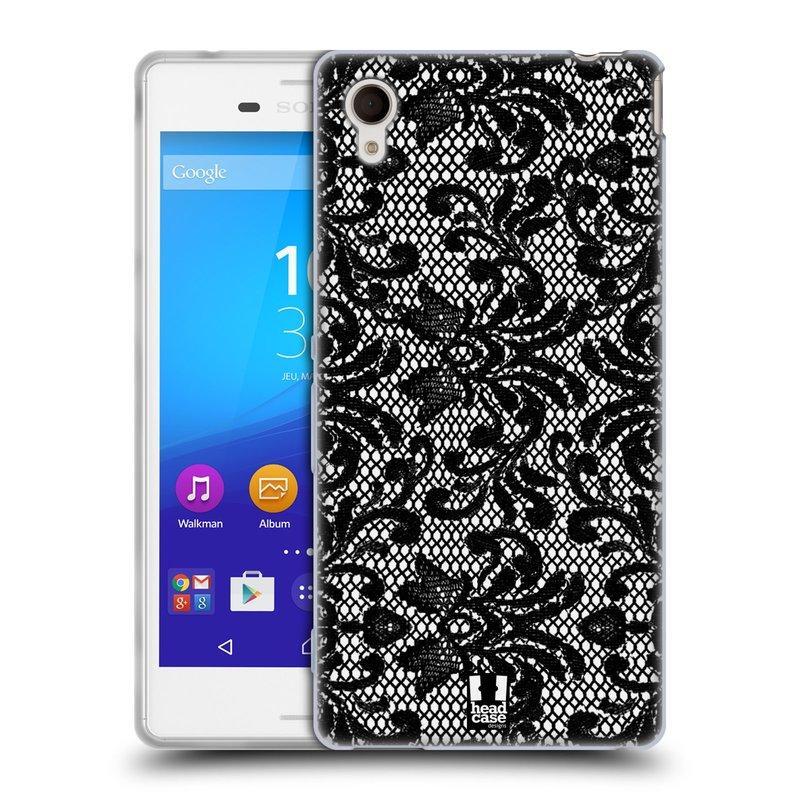 Silikonové pouzdro na mobil Sony Xperia M4 Aqua E2303 HEAD CASE KRAJKA (Silikonový kryt či obal na mobilní telefon Sony Xperia M4 Aqua a M4 Aqua Dual SIM)