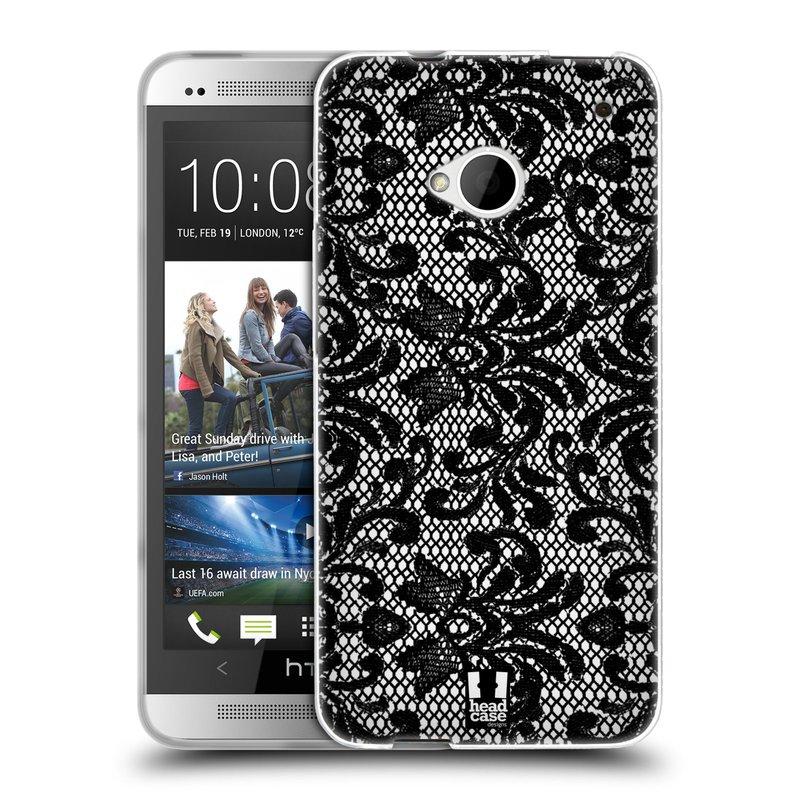 Silikonové pouzdro na mobil HTC ONE M7 HEAD CASE KRAJKA (Silikonový kryt či obal na mobilní telefon HTC ONE M7)