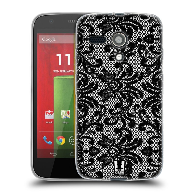 Silikonové pouzdro na mobil Motorola Moto G HEAD CASE KRAJKA (Silikonový kryt či obal na mobilní telefon Motorola Moto G)