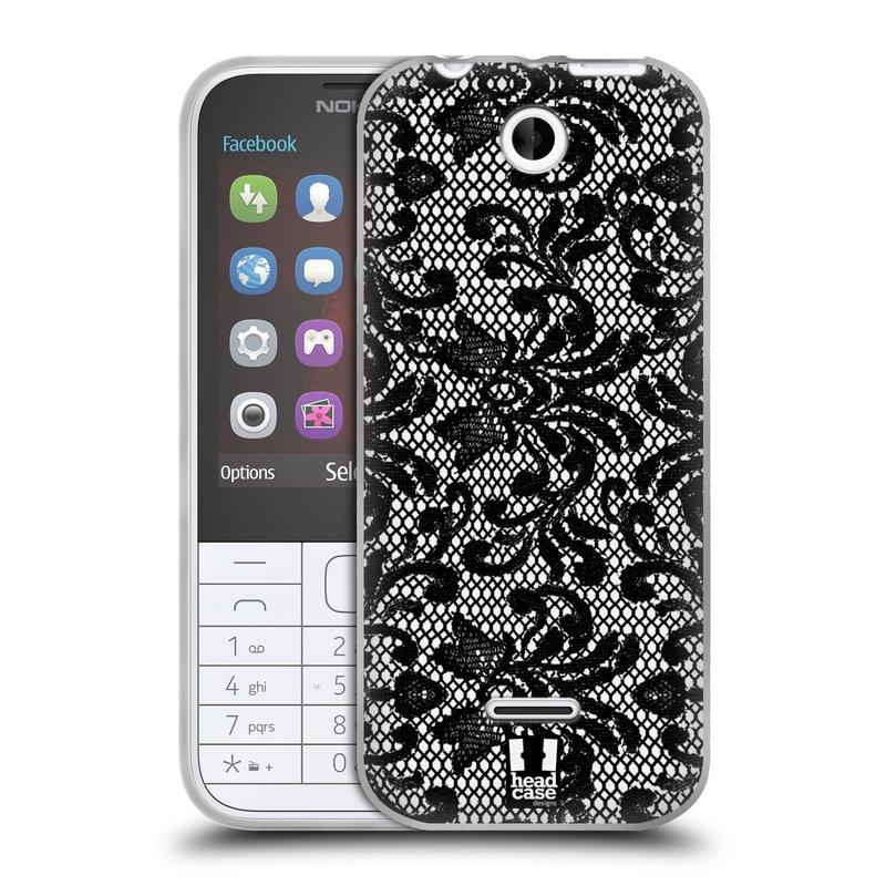 Silikonové pouzdro na mobil Nokia 225 HEAD CASE KRAJKA (Silikonový kryt či obal na mobilní telefon Nokia 225)