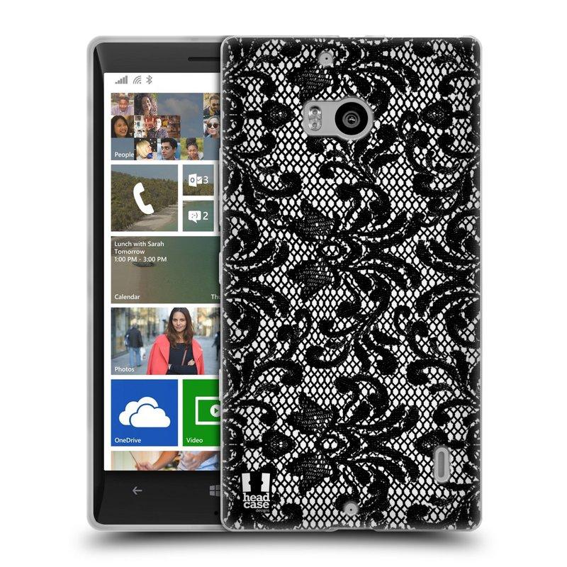 Silikonové pouzdro na mobil Nokia Lumia 930 HEAD CASE KRAJKA (Silikonový kryt či obal na mobilní telefon Nokia Lumia 930)