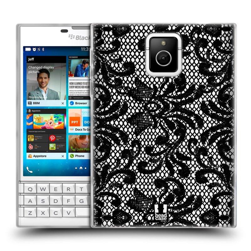 Silikonové pouzdro na mobil Blackberry PASSPORT HEAD CASE KRAJKA (Silikonový kryt či obal na mobilní telefon Blackberry PASSPORT)