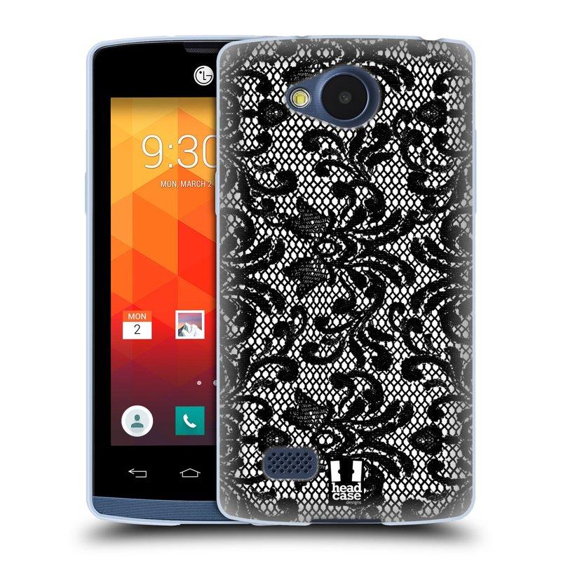 Silikonové pouzdro na mobil LG Joy HEAD CASE KRAJKA (Silikonový kryt či obal na mobilní telefon LG Joy H220)