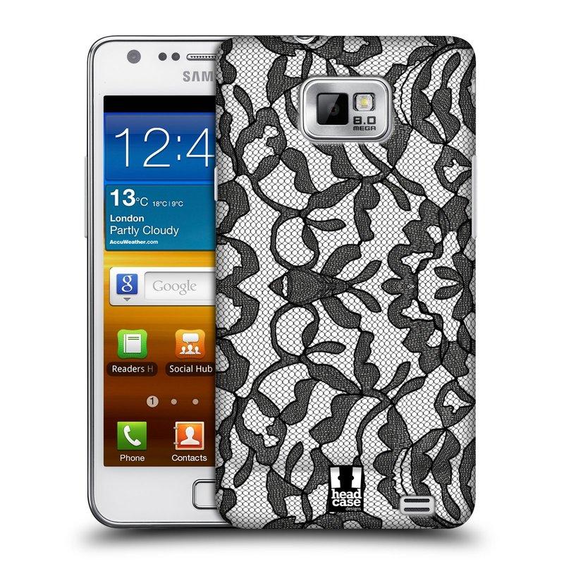 Plastové pouzdro na mobil Samsung Galaxy S II HEAD CASE LEAFY KRAJKA (Kryt či obal na mobilní telefon Samsung Galaxy S II GT-i9100)