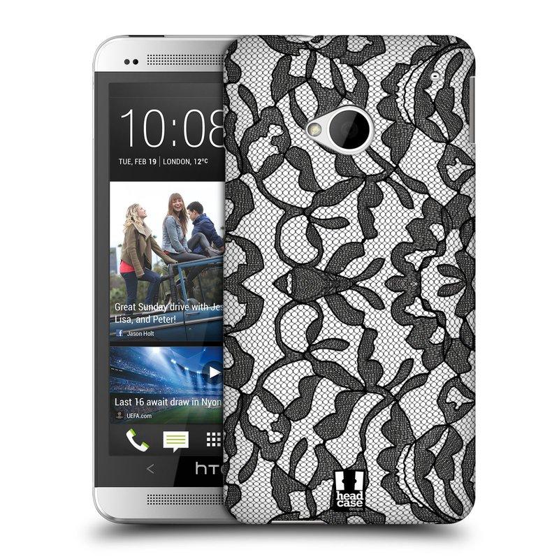 Plastové pouzdro na mobil HTC ONE M7 HEAD CASE LEAFY KRAJKA (Kryt či obal na mobilní telefon HTC ONE M7)