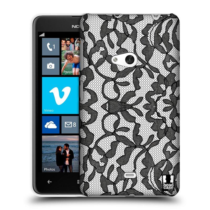 Plastové pouzdro na mobil Nokia Lumia 625 HEAD CASE LEAFY KRAJKA (Kryt či obal na mobilní telefon Nokia Lumia 625)