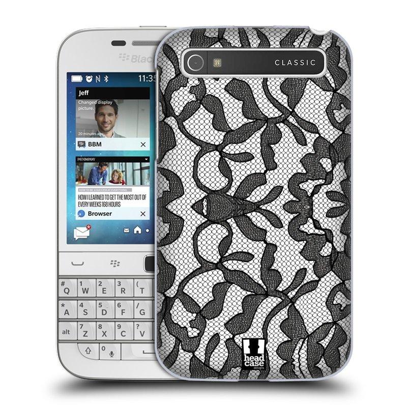 Plastové pouzdro na mobil Blackberry Classic HEAD CASE LEAFY KRAJKA (Kryt či obal na mobilní telefon Blackberry Classic)