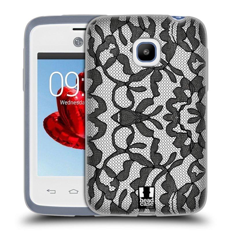 Silikonové pouzdro na mobil LG L20 HEAD CASE LEAFY KRAJKA (Silikonový kryt či obal na mobilní telefon LG L20 D107)