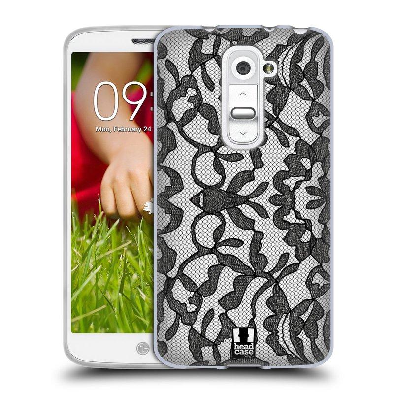 Silikonové pouzdro na mobil LG G2 Mini HEAD CASE LEAFY KRAJKA (Silikonový kryt či obal na mobilní telefon LG G2 Mini D620)