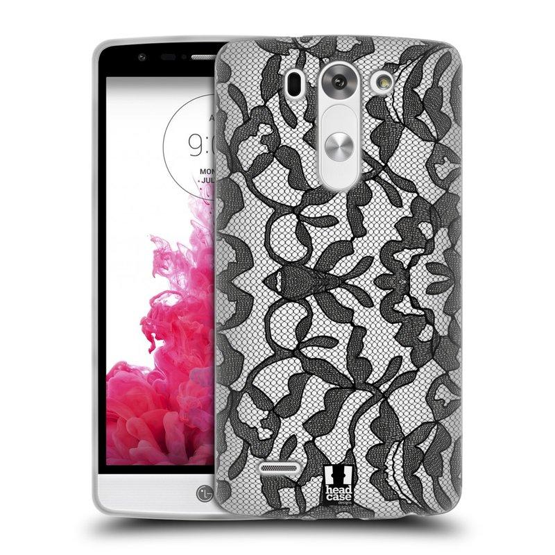 Silikonové pouzdro na mobil LG G3s HEAD CASE LEAFY KRAJKA (Silikonový kryt či obal na mobilní telefon LG G3s)