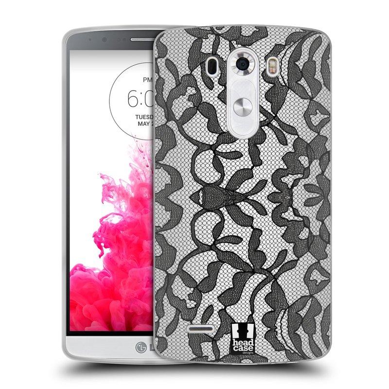Silikonové pouzdro na mobil LG G3 HEAD CASE LEAFY KRAJKA (Silikonový kryt či obal na mobilní telefon LG G3)