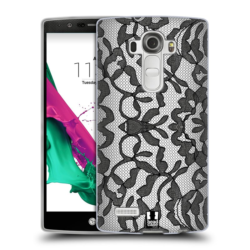 Silikonové pouzdro na mobil LG G4 HEAD CASE LEAFY KRAJKA (Silikonový kryt či obal na mobilní telefon LG G4 H815)