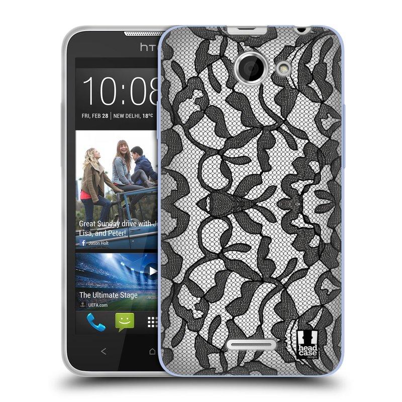 Silikonové pouzdro na mobil HTC Desire 516 HEAD CASE LEAFY KRAJKA (Silikonový kryt či obal na mobilní telefon HTC Desire 516 Dual SIM)