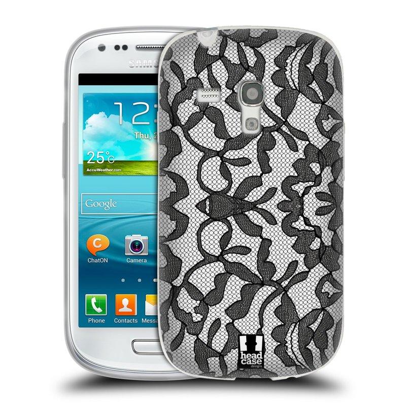Silikonové pouzdro na mobil Samsung Galaxy S3 Mini VE HEAD CASE LEAFY KRAJKA (Silikonový kryt či obal na mobilní telefon Samsung Galaxy S3 Mini VE GT-i8200)