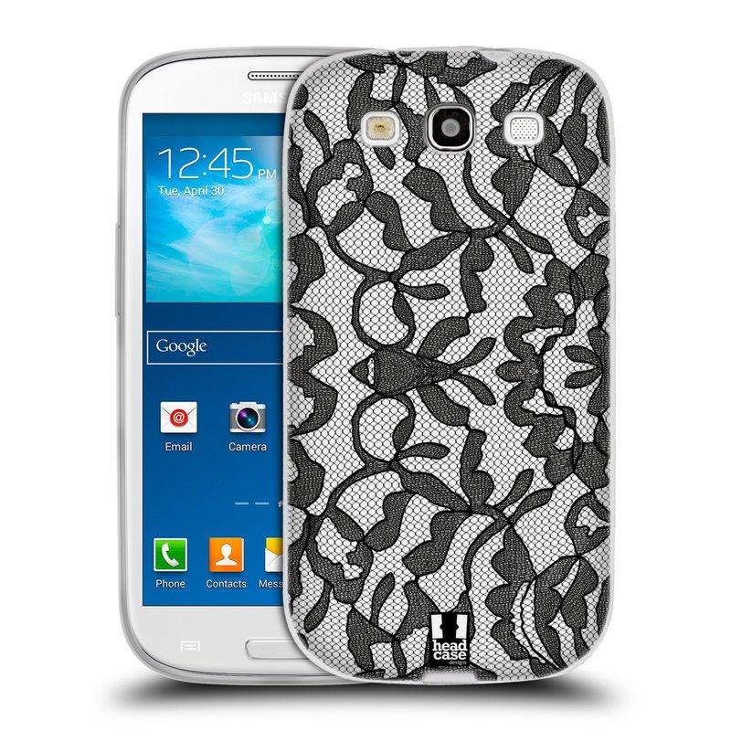 Silikonové pouzdro na mobil Samsung Galaxy S III HEAD CASE LEAFY KRAJKA (Silikonový kryt či obal na mobilní telefon Samsung Galaxy S III GT-i9300)