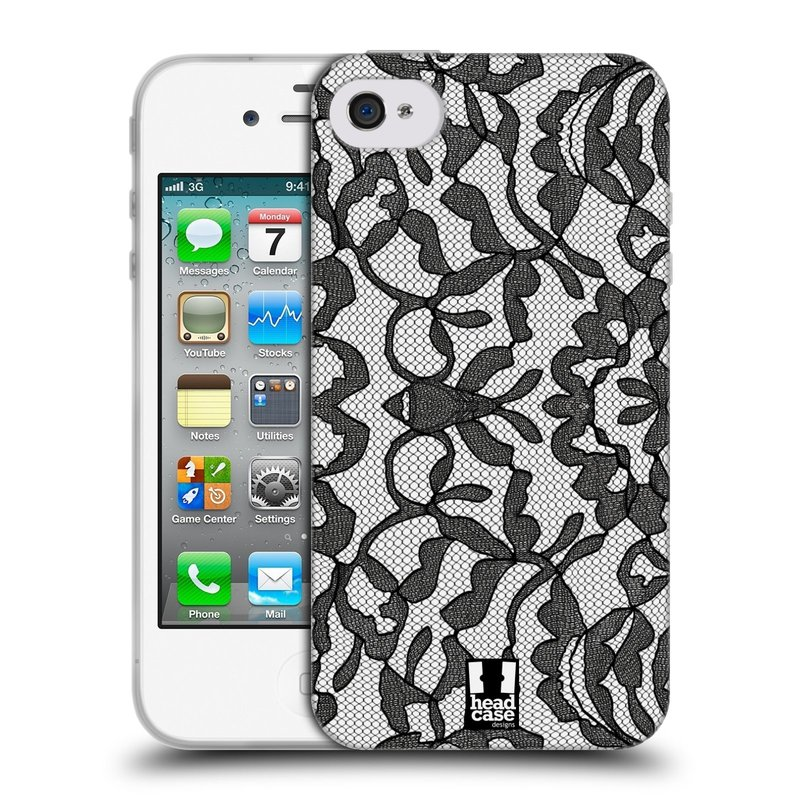 Silikonové pouzdro na mobil Apple iPhone 4 a 4S HEAD CASE LEAFY KRAJKA (Silikonový kryt či obal na mobilní telefon Apple iPhone 4 a 4S)